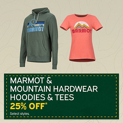 Men's & Women's Marmot and Mountain Hardwear Hoodies & Tees 25% Off* Sale