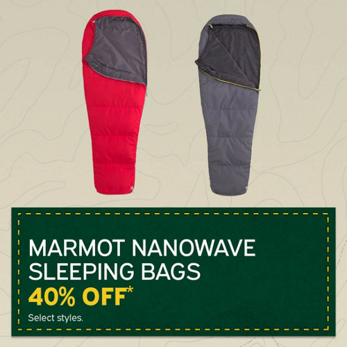 Marmot Nanowave Sleeping Bags 40% Off* Select Styles.