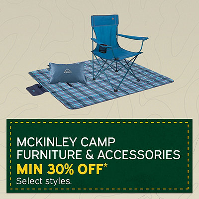 Select McKinley Camp Furniture & Accessories, minimum 30% Off*