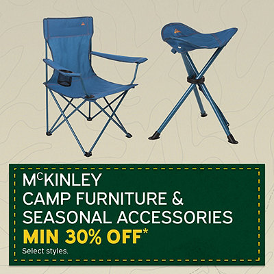 Select McKinley Camping Furniture Minimum 30% Off*