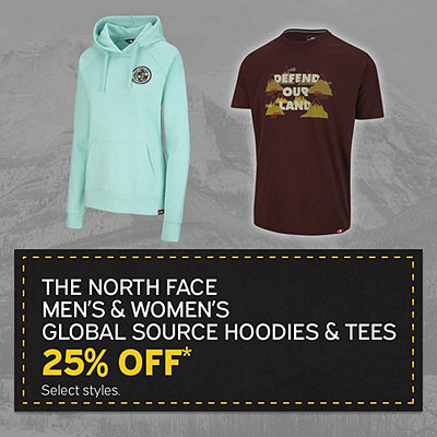 Men's & Women's The North Face Bottle Source Hoodies & Tees 25% Off* Sale