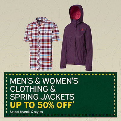 Clothing & Spring Jackets up to 50% Off*