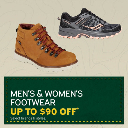 Men's & Women's Footwear Up to $90 Off* Select Brands & Styles.