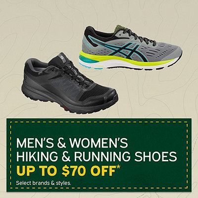 Men's & Women's Hiking & Running Shoes Up to $70 Off*