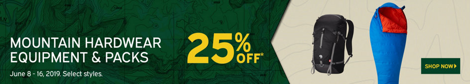 Mountain Hardwear Equipment & Packs 25% Off* June 8-16 Select Styles. Shop Now.