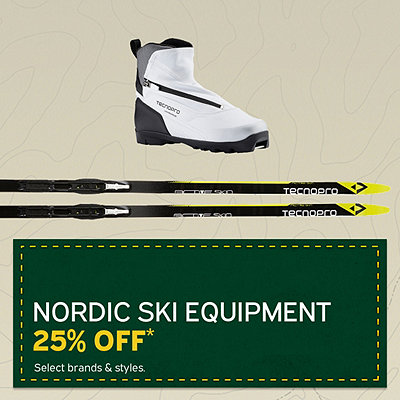 Select Nordic Ski Equipment 25% Off*