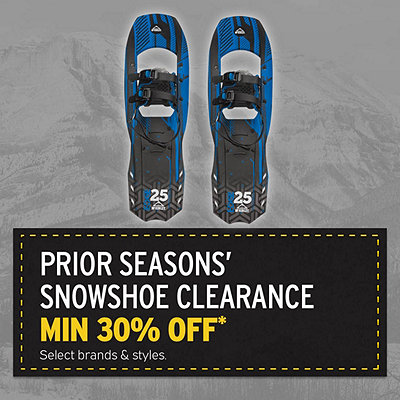 Prior Seasons Snowshoes Clearance Priced Minimum 30% Off*