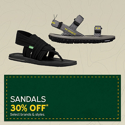 Men's & Women's Sandals 30% Off*