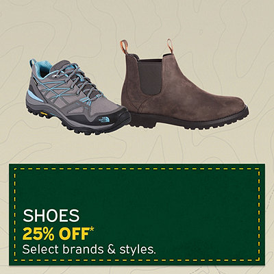 Select Men's & Women's Shoes 25% Off*