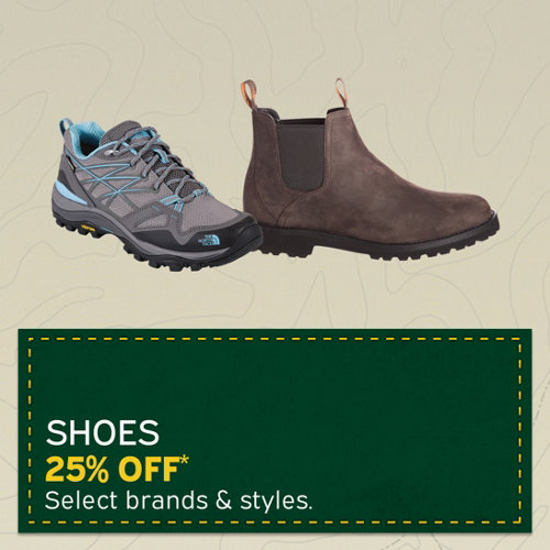 Shoes 25% Off* Select brands & styles.