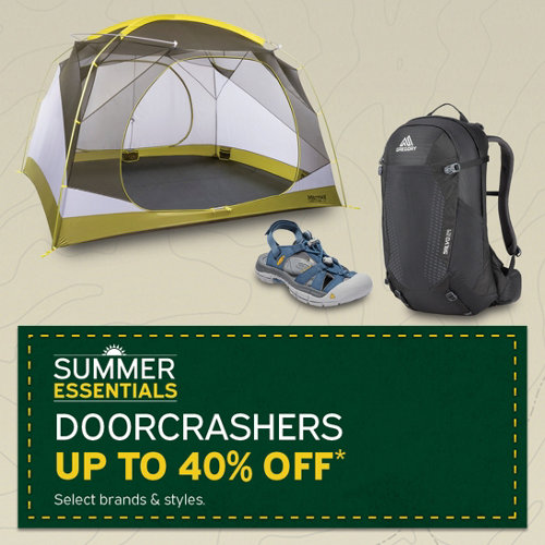 Summer Doorcrasher up to 50% Off* select brands & styles.