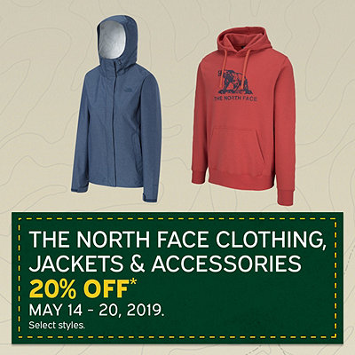 The North Face Clothing, Jackets & Accessories - 20% OFF