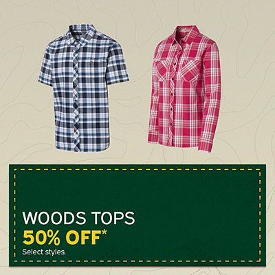 Woods Men's & Women's Tops up to 50% Off*